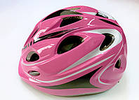 Шлем детский розовый для роликов, скейтов, велосипедов регулируемый (52-54 см), фото 1