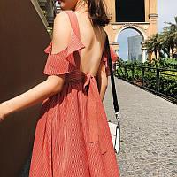 Легкое платье с открытой спиной, фото 1