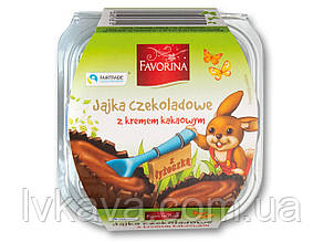 Шоколадные яйца с шоколадным кремом  Favorina, 36 гр х 4 шт