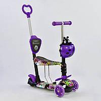 Самокат Best Scooter 5 в 1 Абстракция 58040 подсветка колес, фото 1