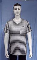 Мужская котоновая футболка Баталы (в уп. до 5 разных расцветок) оптом со склада в Одессе