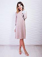 a47b4f210ee Элегантное платье с плиссировкой и завязками на рукавах. Арт.2427