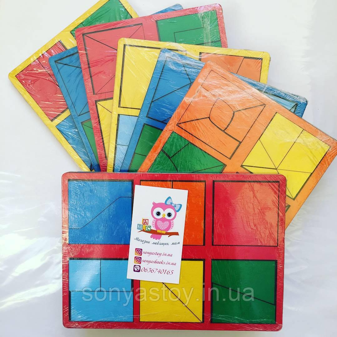 Квадраты Никитина, развивающаяя и обучающая игра на логику, 3 уровня (1+, 2+, 3+)