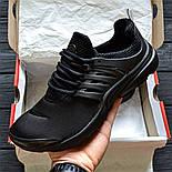 Мужские кроссовки Air Presto BR QS all black. Живое фото  (Реплика ААА+), фото 2