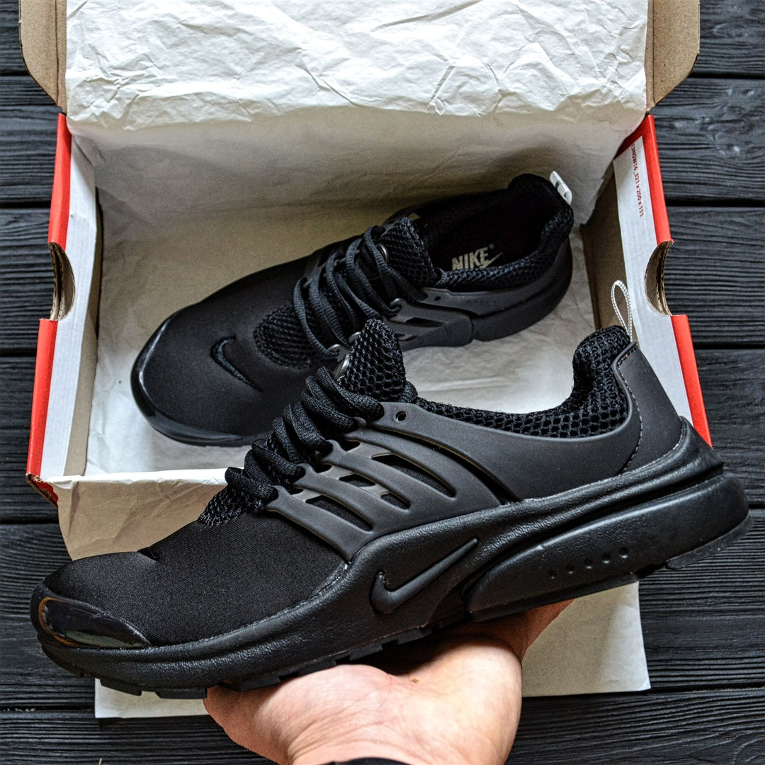 Мужские кроссовки Air Presto BR QS all black. Живое фото  (Реплика ААА+)