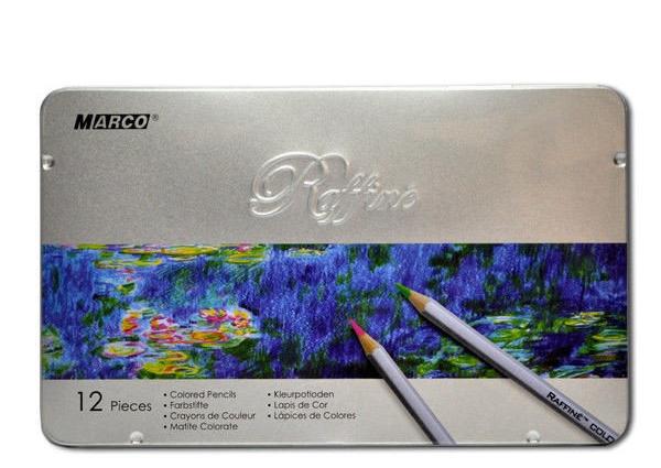 Карандаши цветные Marco Raffine 12 цветов металлическая коробка (7100-12TN)