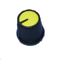 Ручка AG 3 для потенциометра черная с желтой вставкой