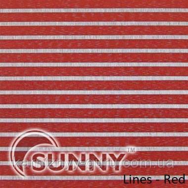 Рулонные шторы для окон в открытой системе Sunny, ткань Lines