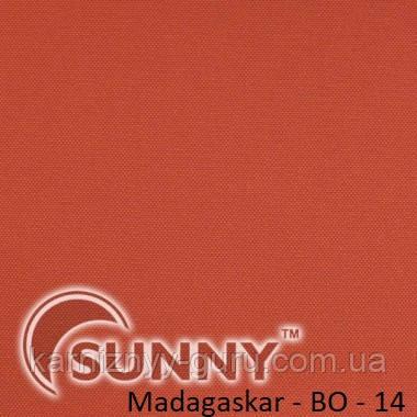 Рулонные шторы для окон в открытой системе Sunny, ткань Madagaskar BO - 1