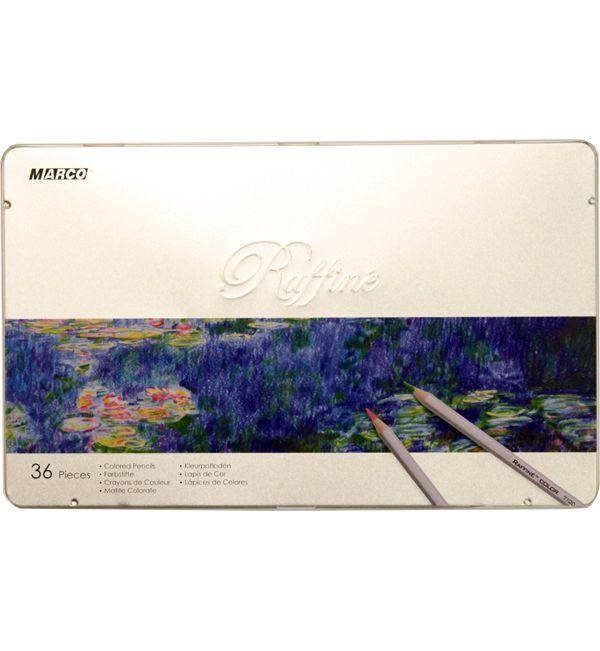 Карандаши цветные Marco Raffine 36 цветов металлическая коробка (7100-36TN)