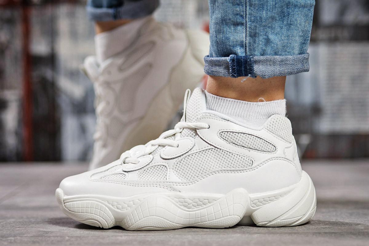 Кроссовки женские  Adidas Yeezy 500, белые (15472),  [  39 (последняя пара)  ]