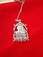 Иконка серебряная Божьей матери