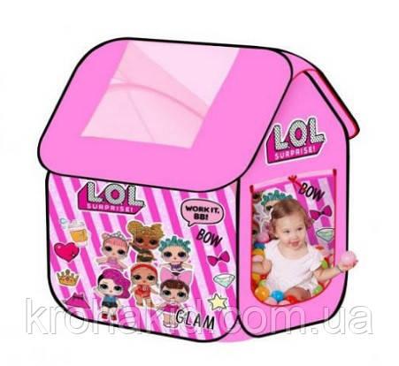 Дитячий намет M 5809 Будиночок Лол / лялька LOL 96х96х102 см