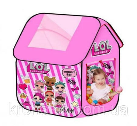Дитячий намет M 5809 Будиночок Лол / лялька LOL 96х96х102 см, фото 2