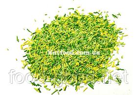 Посыпка палочки микс зеленая, 100г