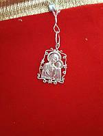 Серебряная иконка Божьей матери 925 пробы