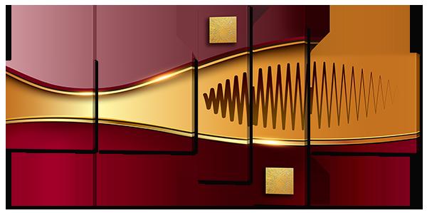 Модульная картина Interno Эко кожа Абстракция золото 148x74см (A791М)