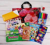 Набор первоклассника подарочный для девочки (пакет Цветы)