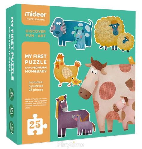 "Мої перші пазли ""Ферма. Мама і малюк"" MiDeer Toys"