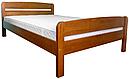 Ліжко односпальні з натурального дерева в спальню/дитячу Октавія 2 (Бук)80*190Неомеблі, фото 4