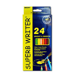 Карандаши цветные Marco Superb Writer акварельные с кисточкой 24 цвета (4120-24CB)