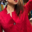 Женский нарядный кардиган с цветочной вышивкой - (рр-104), фото 3