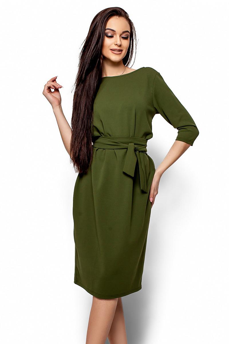 (S, M, L) Класичне вечірнє плаття кольору хакі Ariell