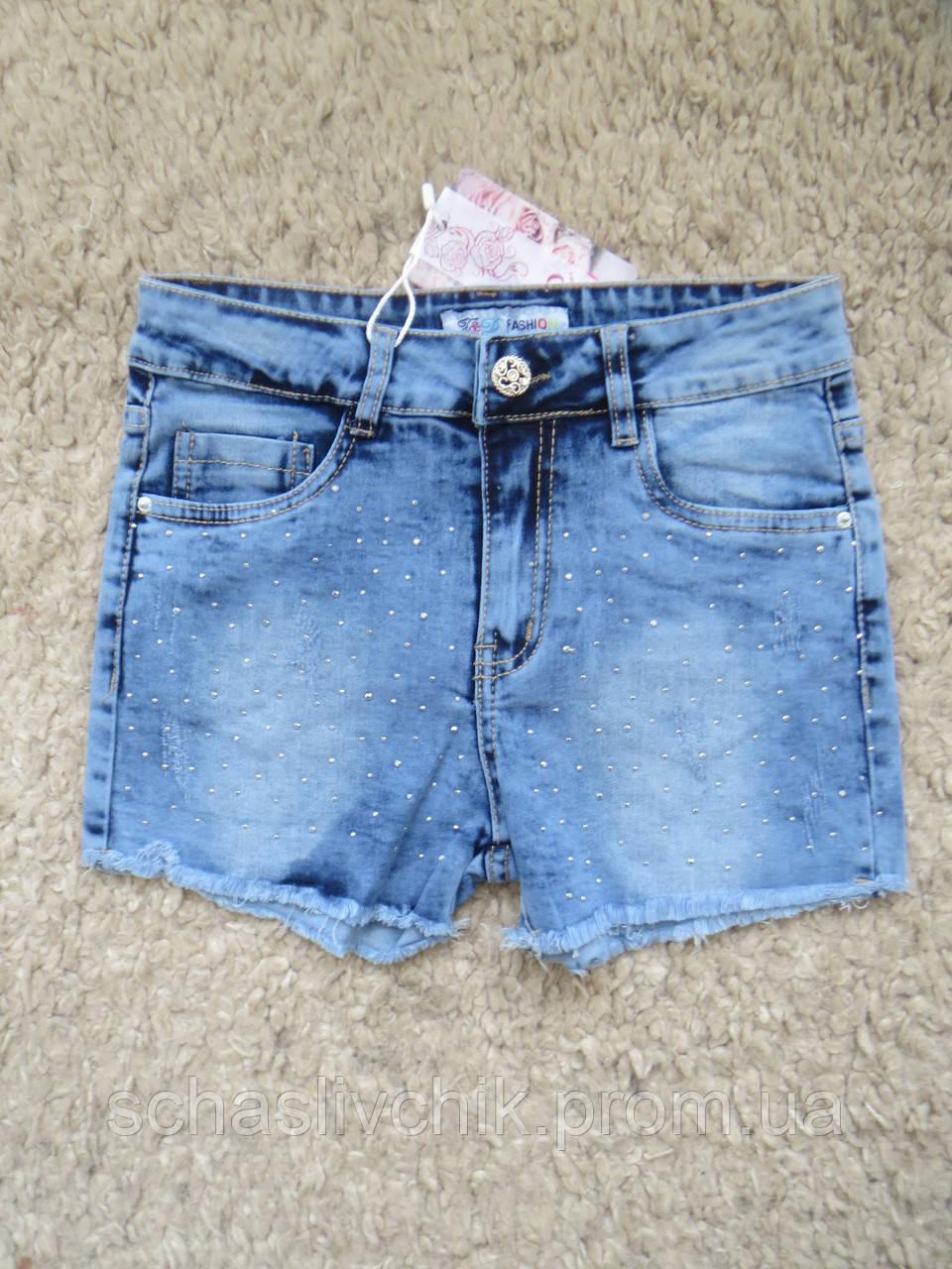 Детские джинсовые бриджи, шорты для мальчиков и девочек, размер 8-16, фирма F&D