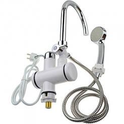 Проточный водонагреватель Delimano с душем нижнее подключение