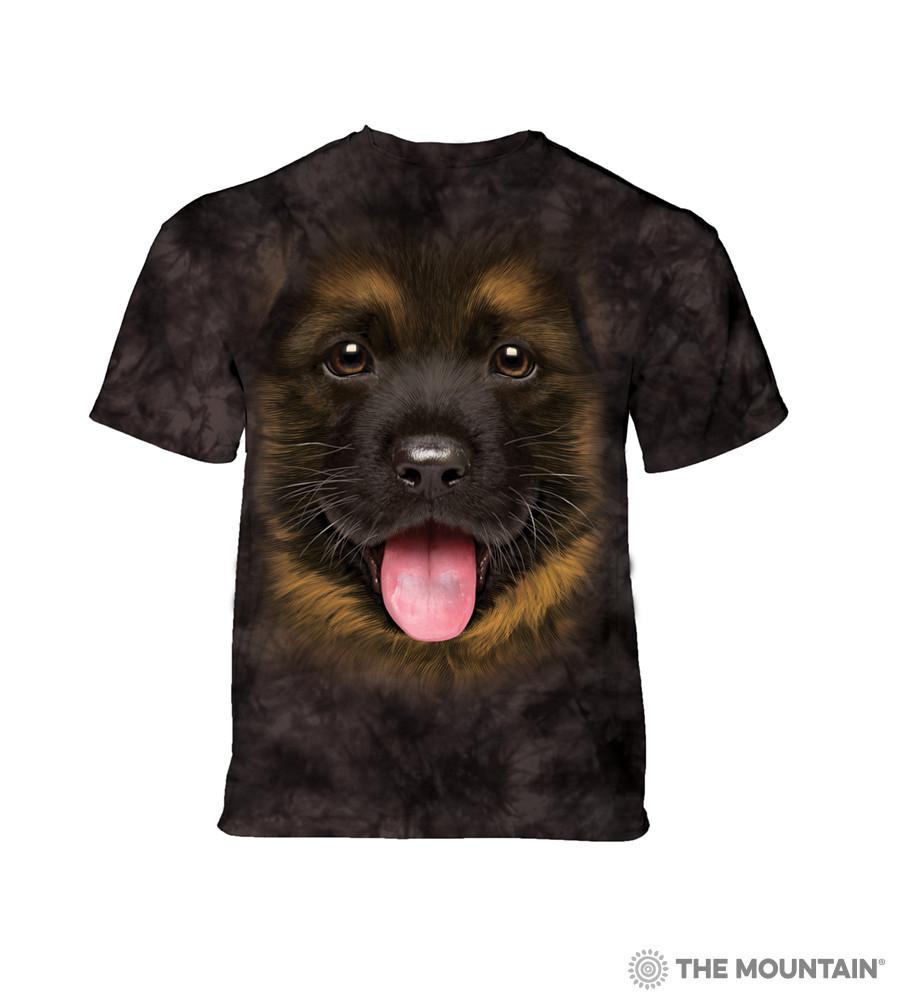 3D футболка для мальчика The Mountain размер S 5-6 лет футболки детские 3д (Щенок Немецкой Овчарки)