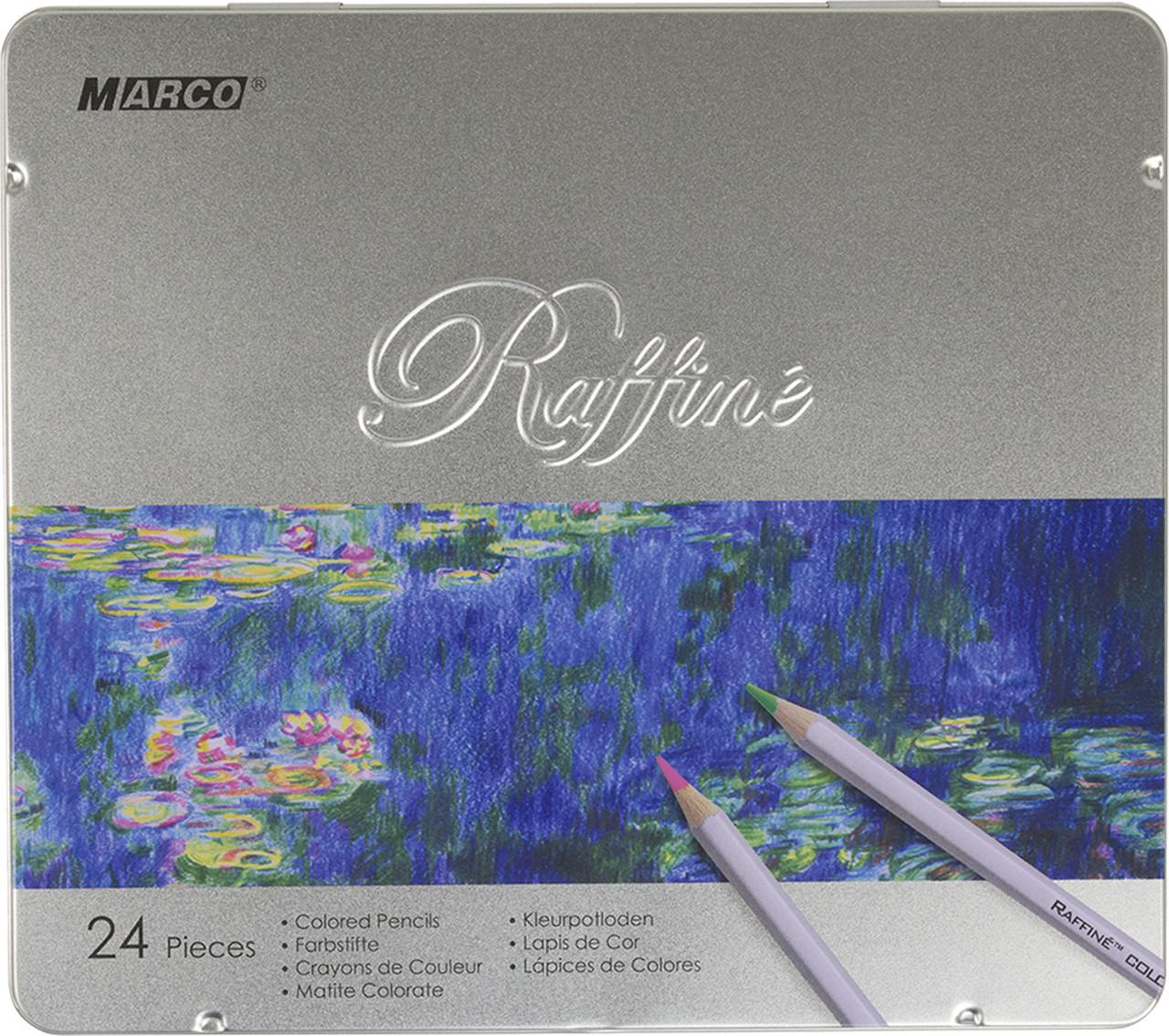 Карандаши цветные Marco Raffine 24 цветов металлическая коробка (7100-24TN)