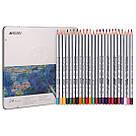 Карандаши цветные Marco Raffine 24 цветов металлическая коробка (7100-24TN), фото 2
