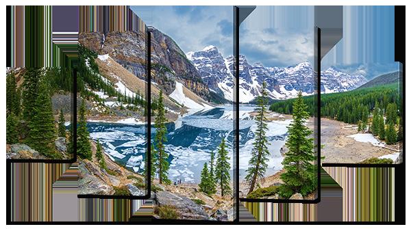 Модульная картина Interno Эко кожа Красивая панорама 123х69см (А795M)
