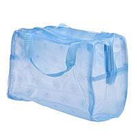 Косметичка-сумочка прозора блакитна