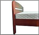 Ліжко півтораспальне в спальню, дитячу Октавія 2 (Бук)140*200 Неомеблі, фото 3