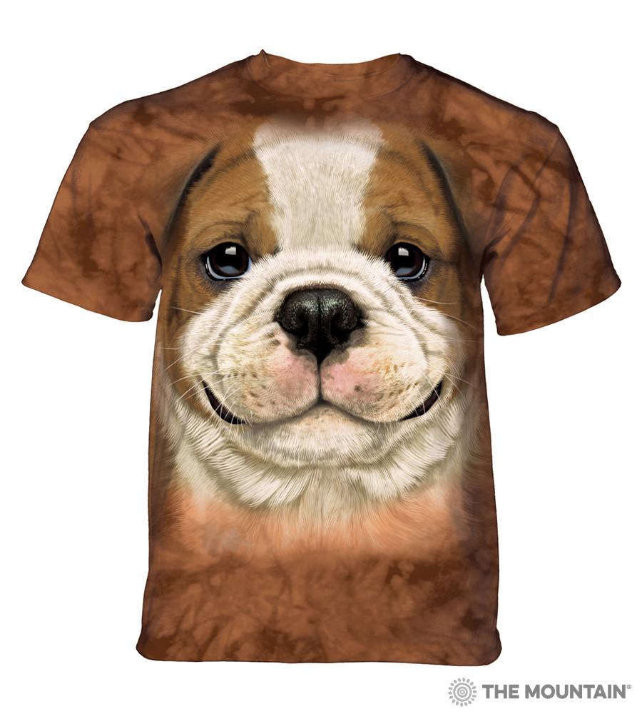 3D футболка для мальчика The Mountain размер L 10-12 лет футболки детские 3д (Щенок Бульдога)