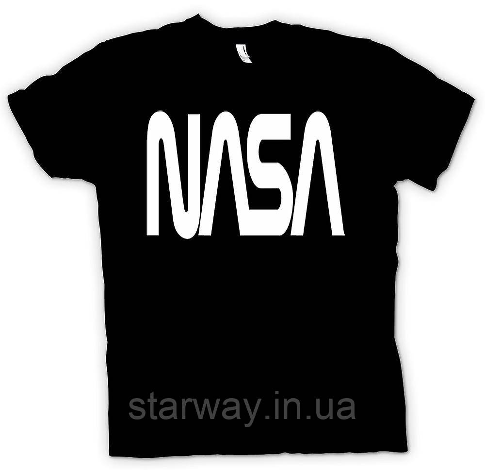 Футболка чёрная Nasa | наса лого