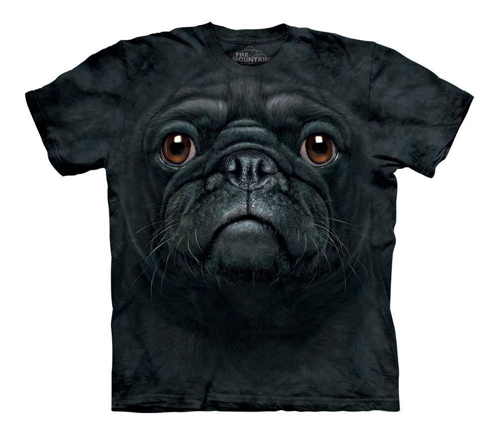 3D футболка для мальчика The Mountain р.L 10-12 лет футболки детские с 3д принтом рисунком (Черный Мопс)