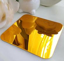 Акриловое зеркало 28×28 см × 1 мм золото