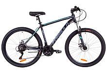 """Велосипед 27.5"""" Formula THOR 1.0 AM 14G DD Al 2019 (черно-серый с бирюзовым (м))"""
