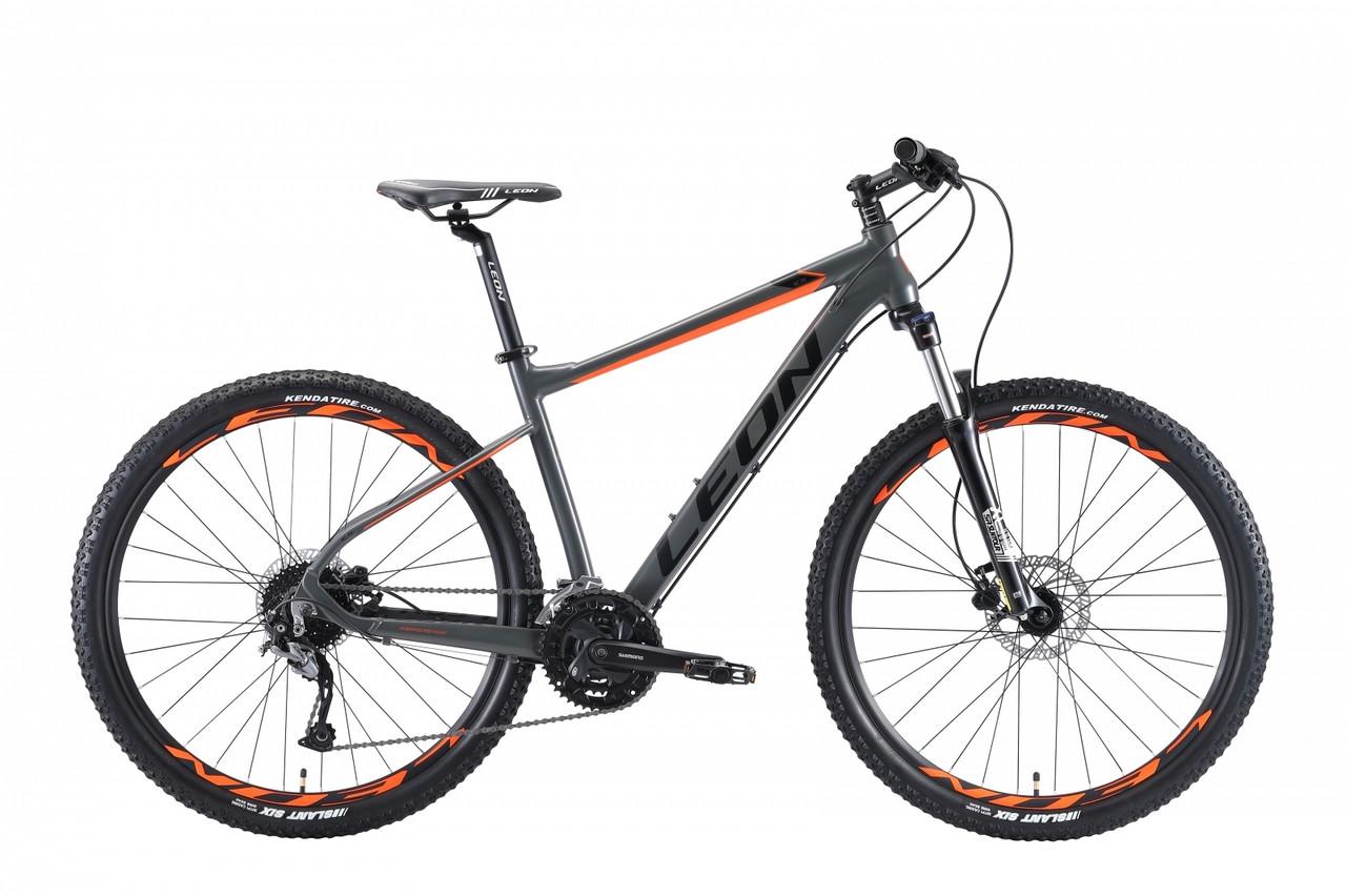 """Велосипед 27.5"""" Leon XC-70 AM Hydraulic lock out 14G HDD Al 2019 (серо-оранжевый (м))"""