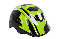 Шлем велосипедный HEL096 детский (черно-салатный)