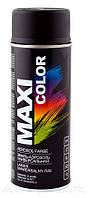 Акриловая краска Maxi Color RAL9005M цвет: черный матовый 400мл.