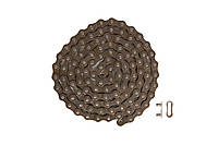 Цепь 1ск. 112зв. КМС Z1 с замком (brown/brown)