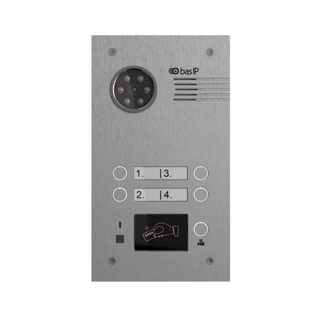 Многоабонентская вызывная панель Bas IP BA-04M SILVER (Mifare)