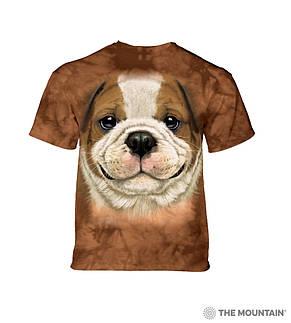3D футболка для девочки The Mountain размер S 5-6 лет футболки детские с 3д принтом (Щенок Бульдога), фото 2