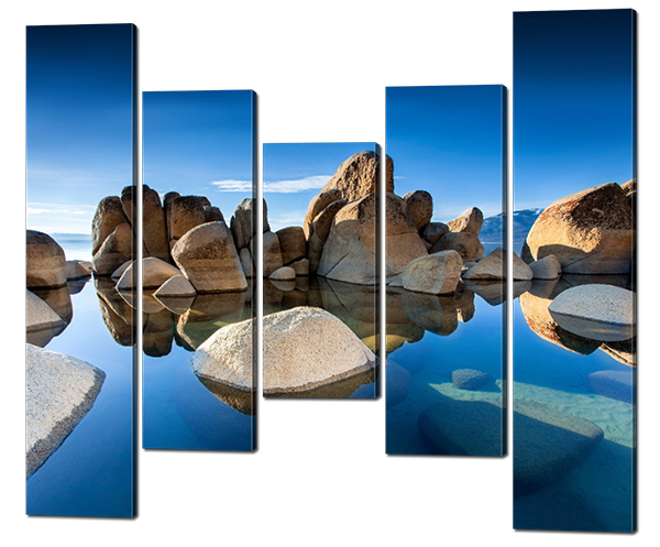 Модульна картина Interno Полотно Камені і вода 108х89см (R587S)