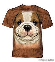 3D футболка для девочки The Mountain размер M 7-10 лет футболки детские с 3д принтом (Щенок Бульдога)