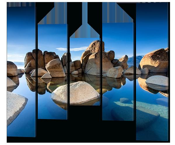 Модульная картина Interno Эко кожа Камни и вода 148х125см (А587L)