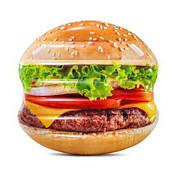 """Надувной матрас Intex 58780 EU """"Гамбургер"""",одноместный, размер 145 х 142 см, от 6-ти лет"""